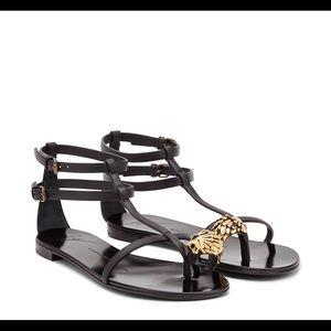 LEO gladiator sandals with gold lion Zanotti Homme